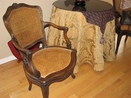 caned Victorian chairs