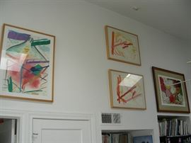 A few of the pieces of art by Wendy Farris