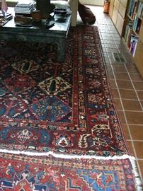 Oriental rugs (there are about a dozen in the house)
