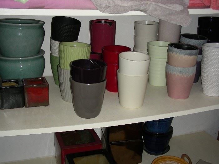 Pottery vases and planters