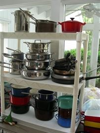 Pots and pans - All-Clad, Williams Sonoma, Calphalon, Dansk, Le Creuset and others