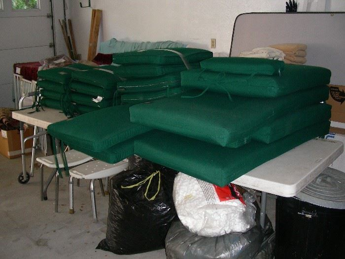 Country Casual cushions for some of the teak furniture around the pool, packing peanuts for you ebayers