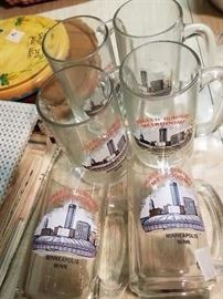 Fun early Metrodome glasses!