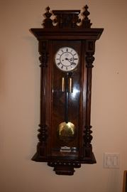 Antique Wall Chime Clock