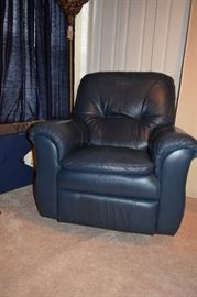Lazyboy Blue Leather Recliner