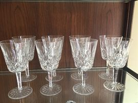 Waterford - Lismore pattern - 8 water and 4 white wine available