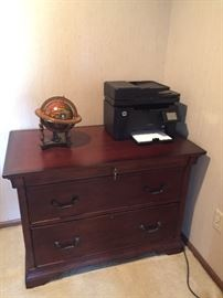 Double drawer filing cabinet - matches desk