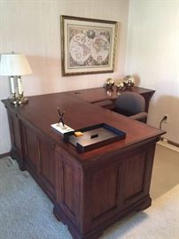 Desk with side return and double drawer filing cabinet also available