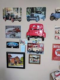 Vintage car signs