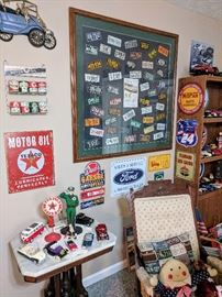 Car signs and diecast cars