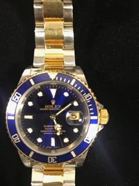 Authentic Mens Rolex with 18KT Gold