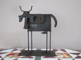 """original """"found metal sculpture"""" by Bill Heise."""