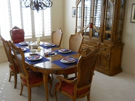 HIBRITEN  DINING SET THIS COMPANY BECAUSE THE QUALITY BERNHARDT BOUGHT THE COMPANY now the company is owned by Berhardt