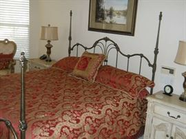 WROUGHT IRON BED  GREAT LIKE NEW MATTRES FOR GUEST ROOM