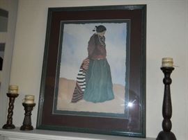 """Irene  KLAR signed native American """"Dreaming old Times Listed artist PRINT"""