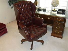 Hooker office furniture  Brown tufted  chair the FINE QUALITY