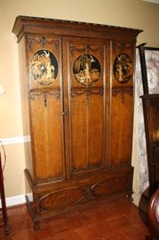 Beautiful carved oriental armoire