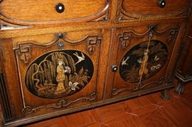 Panels of washstand