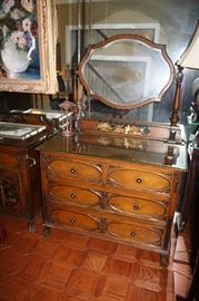 Dresser with carving