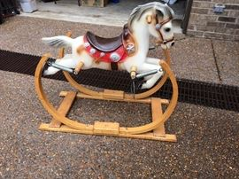 Vintage rocking horse from NeimN Marcus.