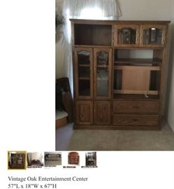 Vintage Oak Entertainment Center