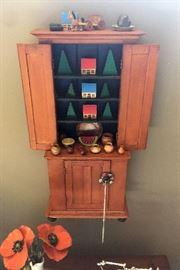 Miniature American Stepback Cupboard