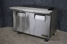 True Refrigerated 48in Prep Table