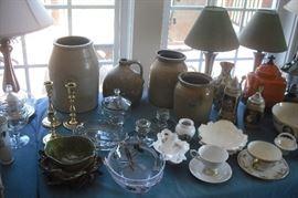 Nice Glassware & Vintage Pottery