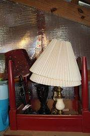 Several Lamps, many in sets of two
