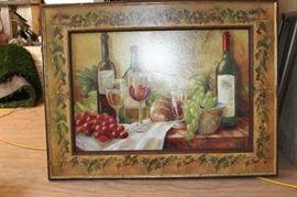 Canvas of wine art