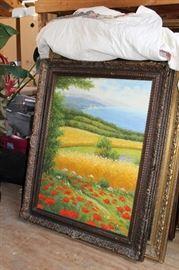 Large Framed Art. Many more not shown.