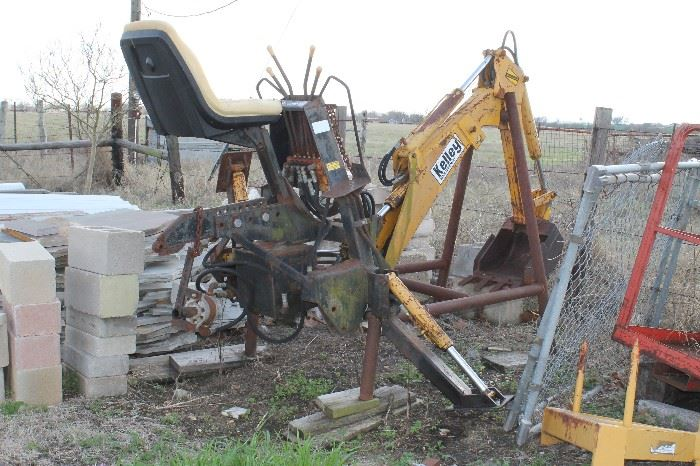 Backhoe attachment for 3 point hitch