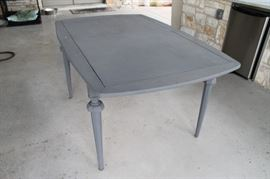 Dining Table painted with gray chalk paint