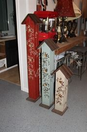 Set of Decorative Bird Houses