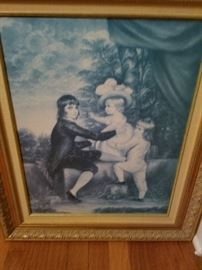 Old World picture from the Gill house antiques in Russellville.