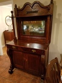Beautiful Buffet. Mom's prized possession given too her from her dad where he bought it himself at an Antique shop,.