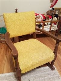 My great grandmother's old antique children's rocking chair.