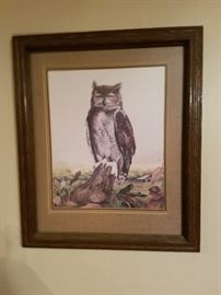 Ralph J. McDonald's numbered, signed, sealed print is just one of the McDonald prints we have. We also have The pioneer, The Raccoons, The pheasant, and he Indian in the boat.