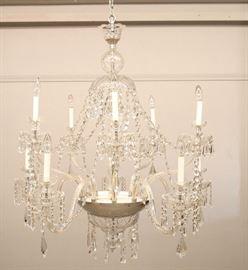 Crystal 10 arm chandelier