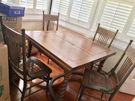 English pub table 1910s                                                                       4 pub table chairs (American) sold separately