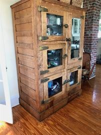 Antique Wooden Refrigerator