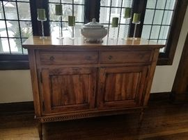 Tall Buffet, Antique, 2-drawer, 2 door	54w x 19d x 44h	$2195.00	Beautiful molding detail and hardware