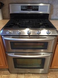 Maytag stainless steel dual oven/cooktop