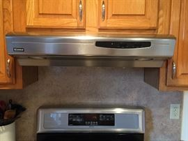 Kenmore stainless steel over the range convertible range hood