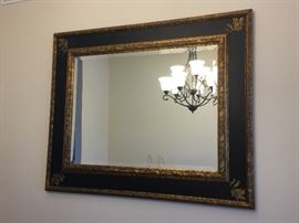 Stunning!  Recently purchased from Designer - Huge, Black and Gold Mirror