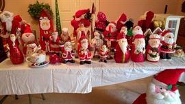 Hundreds of Santa Clauses and Christmas decor!