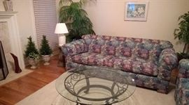 Lots of like new furniture and artificial plants