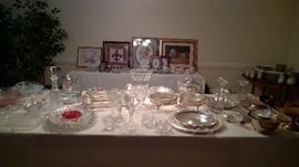 Lots of silver and glassware pieces