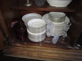 CHINA SET AND SERVING PIECES
