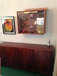 BUY IT NOW--Moreddi credenza sideboard--$700; Cado wall unit with sliding glass door--$350--sophia.dubrul@gmail.com